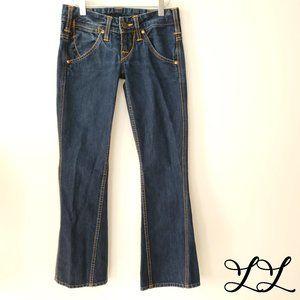 True Religion Jeans Dark Wash Boot Flare Cotton US